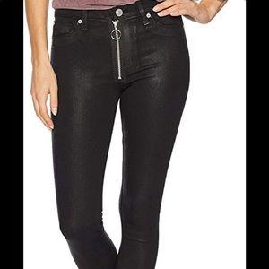Hudson Black Coated Barbara Jeans